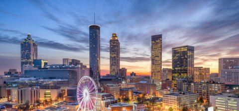 Atlanta, Georgia, USA downtown city skyline.